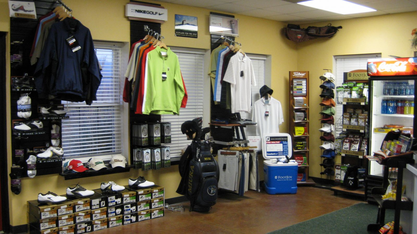 Inside pro shop at Aberdeen Golf Club